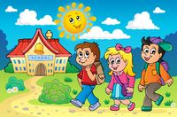 School kids theme image 4 - picture illustration.