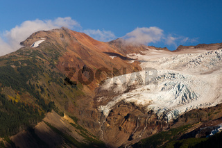 Glacier Melting Heliotrope Ridge Waterfall Alpine Ridge Mt Baker