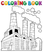 Coloring book factory theme 1 - picture illustration.