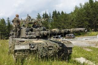 Leopardpanzer bei einer Bundesheerübung, Tirol