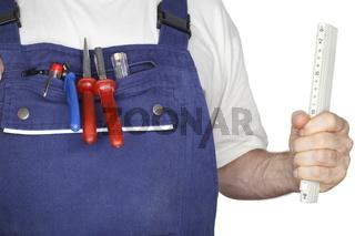 Arbeiter mit Werkzeug