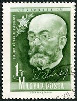 HUNGARY - 1957: shows Ludwig Lazarus Zamenhof (1859-1917), inventor of Esperanto