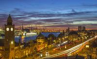 Landing Bridge at Sunset Hamburg