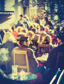 Retro Europe Street Cafe