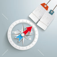 Compass Silver Background Price Sticker