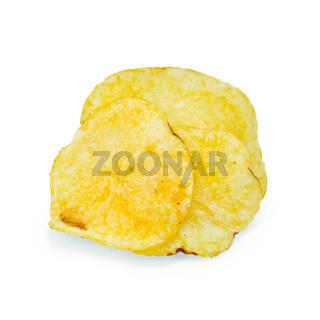 Chips potato pile