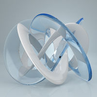 White blue glass torus knot