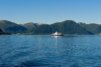 Ferry crossing the Sognefjord, Norway