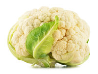 Fresh organic cauliflower isolated on white background
