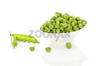Peas in bowl.