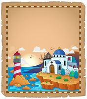 Parchment with Greek theme 2 - picture illustration.