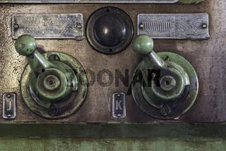 Drehmaschine in einer Schlosserei