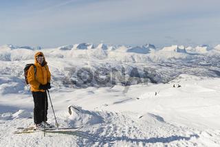 Blick vom Simlefjellet 1.342m