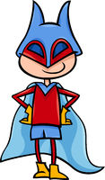 superhero boy cartoon illustration