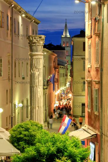 Colorful historic street of Zadar