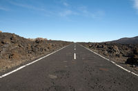 Street, Teide National Park, Tenerife, Canary Islands, Spain, Europe