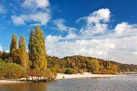 Herbst an der Elbe bei Hamburg, Wittenbergener Ufer