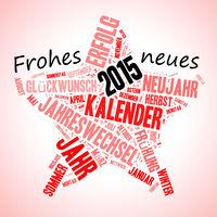 Stern mit Frohes neues 2015