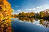 Picturesque autumn landscape. Riga, Latvia