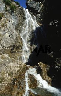 Wasserfall; Hoehenbachtal; Lechtal; Oesterreich
