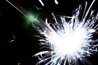 holiday stars sparkler abstract macro close up