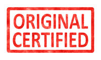 stamp original certified