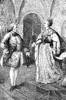 Catherine II with Denis Diderot