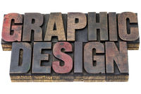 graphic design in grunge wood type
