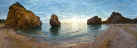 Potistika beach sunrise panorama (Greece)