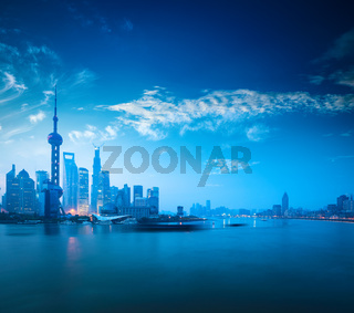 shanghai in dawn
