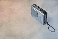 Vintage analog micro cassette tape recorder (Dicta