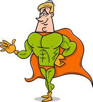 superhero cartoon illustration