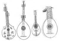 lute, mandolin and theorbo, old stringed instruments