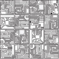 Abstract computer electronics circuit board pattern - seamless texture