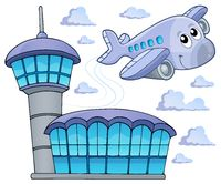 Image with airplane theme 6 - picture illustration.