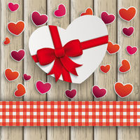 Heart Gift Hearts Cloth Valentinsday Wood