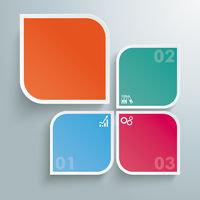 Round Colored Quadrates Template 3 Options Big One