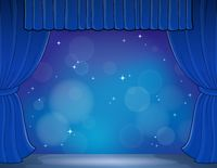 Stage theme image 4 - picture illustration.
