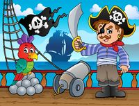 Pirate ship deck topic 3 - picture illustration.