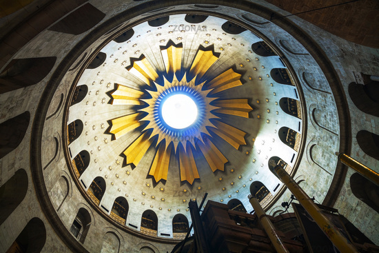 Interior of the Church of Holy Sepulchre