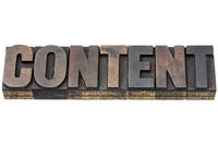 content word in wood type