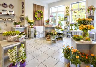 Blumengeschäft Verkaufsraum Blumen