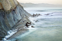 cliff of Zumaia, Basque Country, Spain