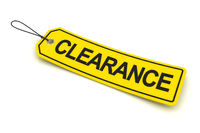 Clearance tag, 3d render