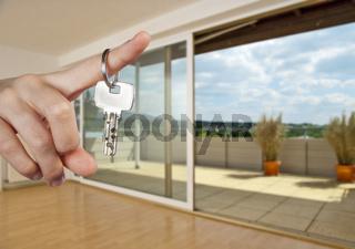 Wohnung und Schlüssel