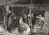Fredegund by Praetextatus death bed