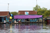 Shop in a floating village,Tonle Sap lake,Cambodia