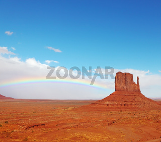 Rainbow in desert