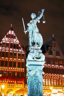 Lady Justice sculpture in Frankfurt, Germany