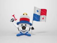 Soccer character fan supporting Panama
